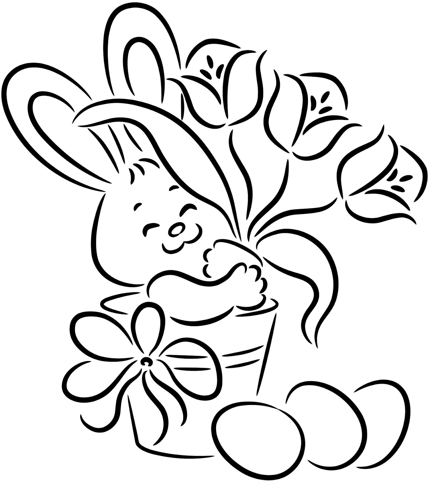 easter color pages happy easter bunny coloring page blogxinfo pages color easter