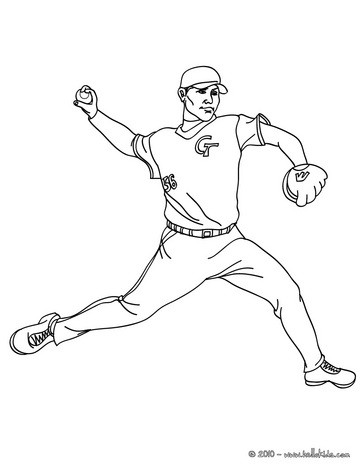 easy baseball coloring pages baseball pitcher coloring pages hellokidscom coloring easy baseball pages