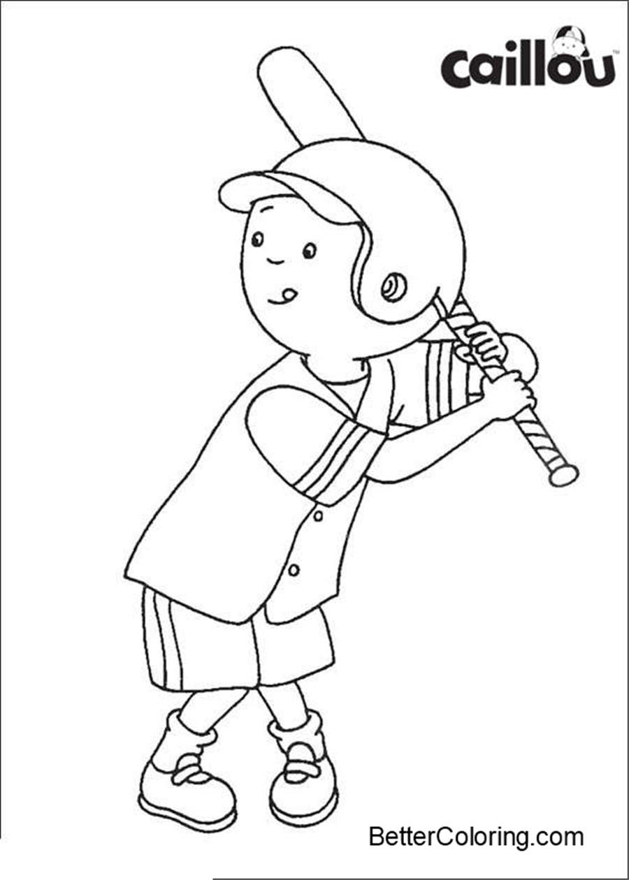 easy baseball coloring pages easy caillou coloring pages baseball free printable pages easy baseball coloring