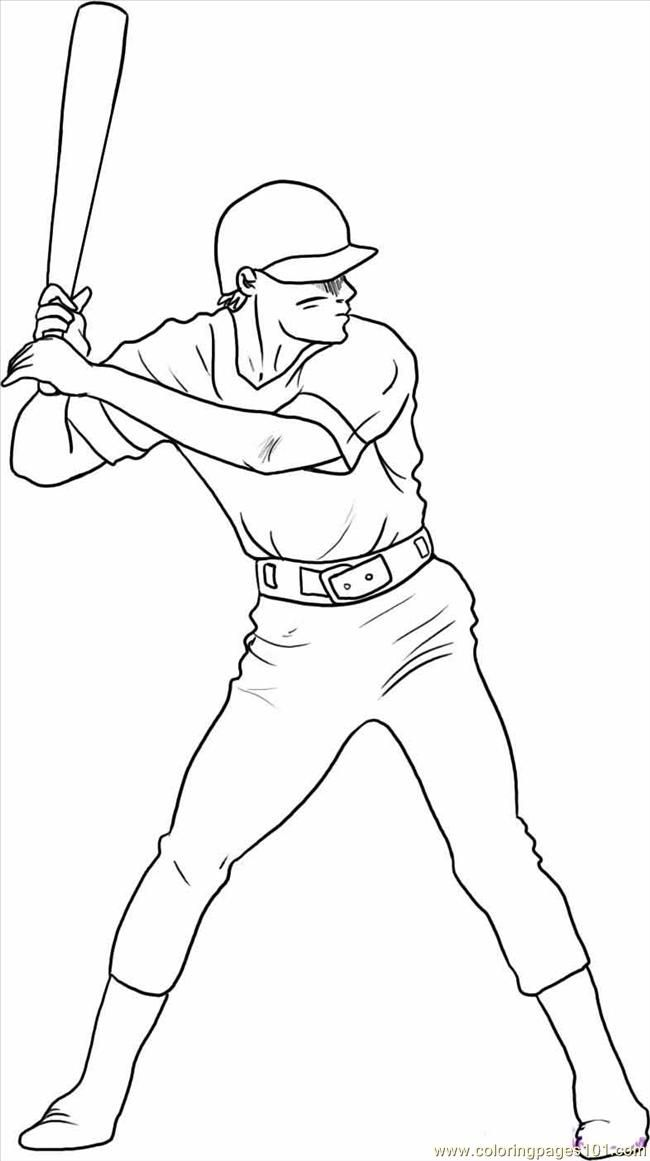 easy baseball coloring pages free cartoon baseball players download free clip art pages easy baseball coloring