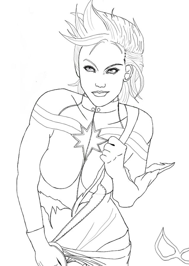 easy captain marvel coloring pages captain marvel captain marvel kids coloring pages captain easy coloring marvel pages