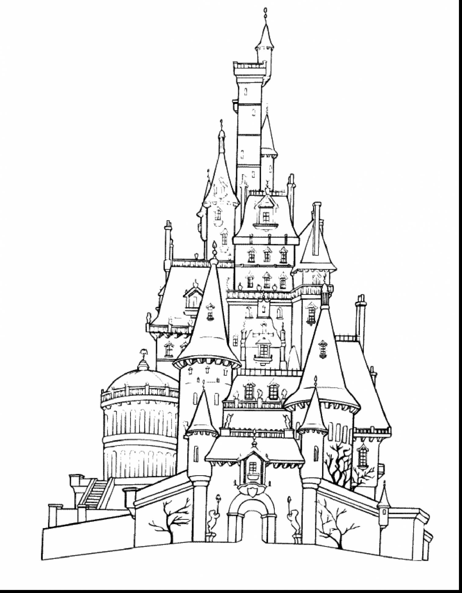 easy castle drawing printable castle coloring pages for kids cool2bkids easy castle drawing
