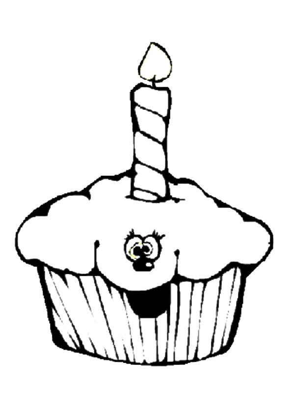 easy cupcake coloring pages cupcakes and cakes for kids cupcakes and cakes kids pages easy coloring cupcake