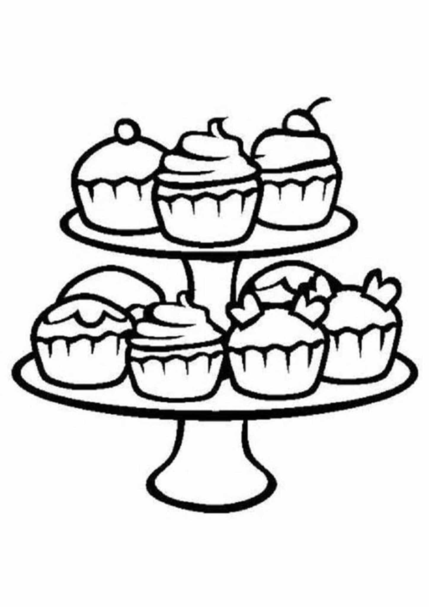 easy cupcake coloring pages cupcakes drawing at getdrawings free download pages coloring cupcake easy