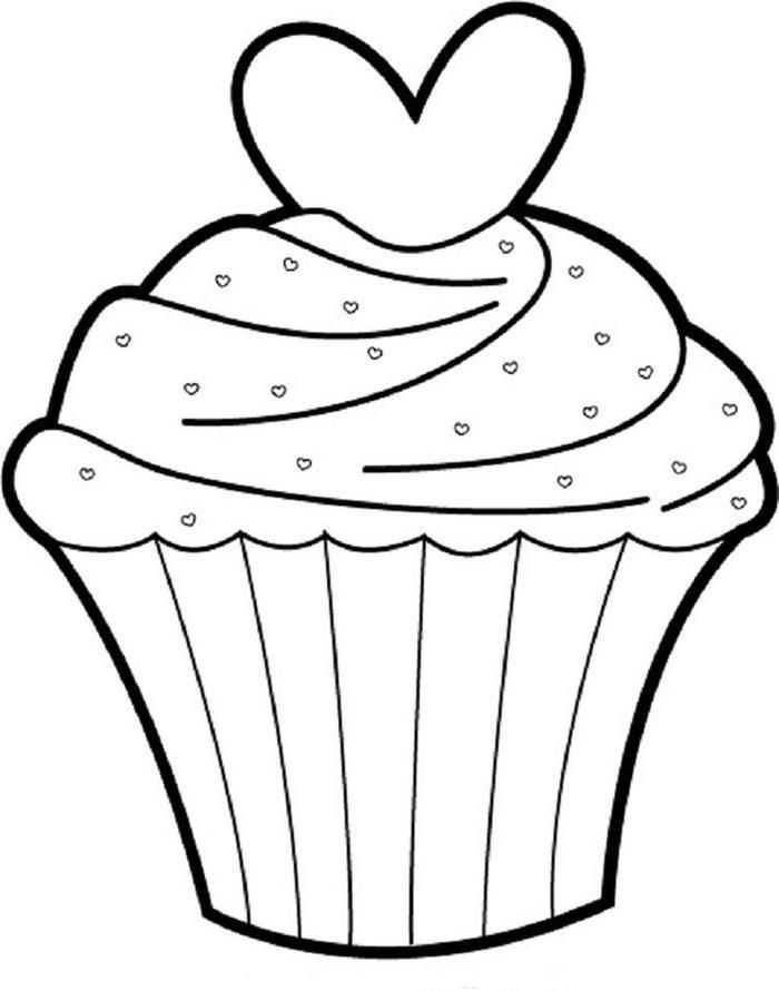 easy cupcake coloring pages cupcakes drawing at getdrawings free download pages easy cupcake coloring