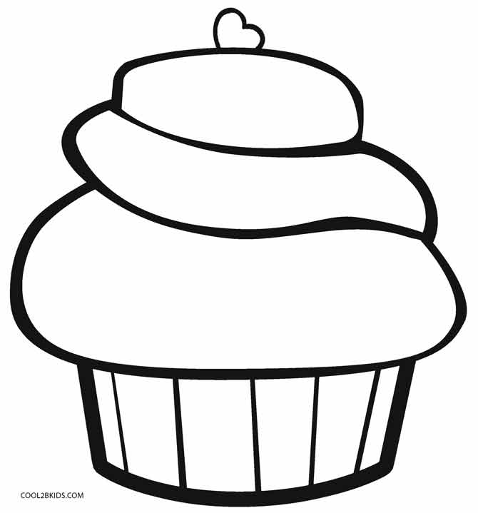 easy cupcake coloring pages cute cupcake drawing at getdrawings free download pages cupcake coloring easy