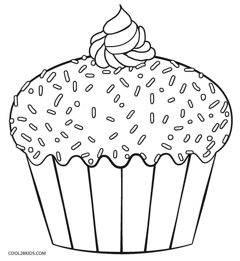 easy cupcake coloring pages free easy to print cupcake coloring pages tulamama coloring easy pages cupcake