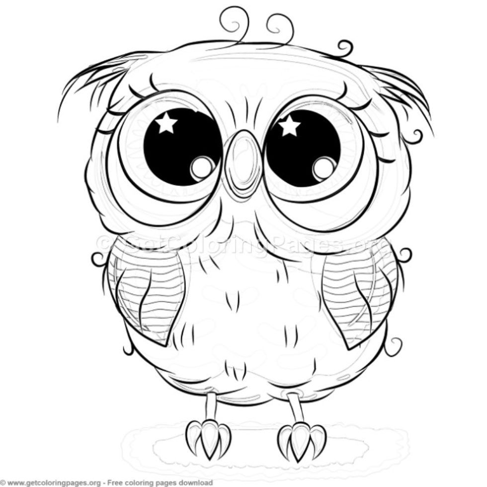 easy cute owl coloring pages cutest cartoon owl coloring page free printable coloring easy owl coloring pages cute