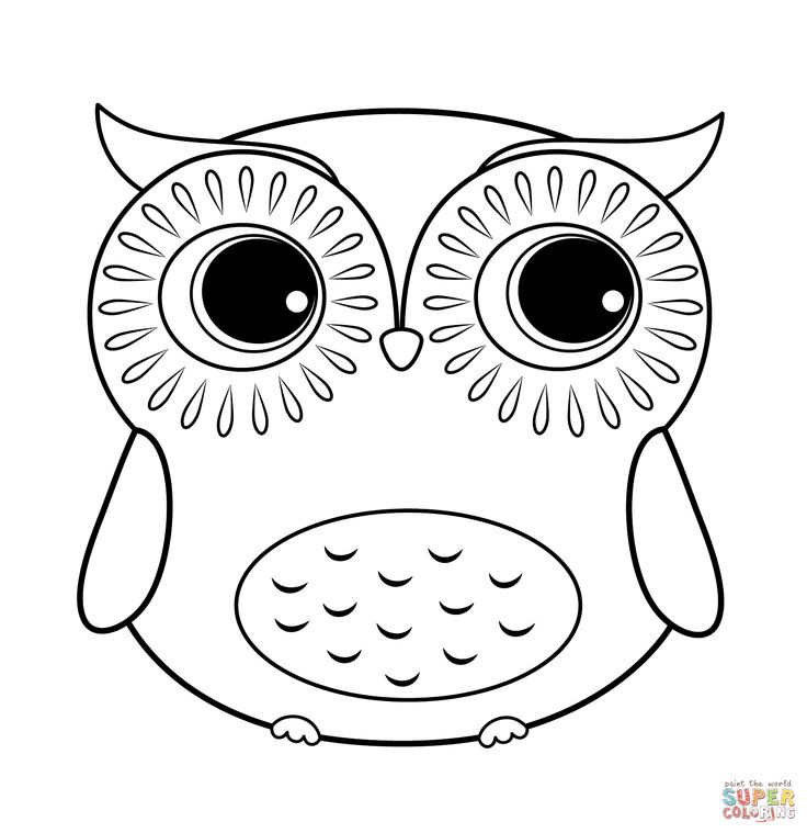 easy cute owl coloring pages easy cute owl drawing at getdrawings free download coloring owl pages cute easy
