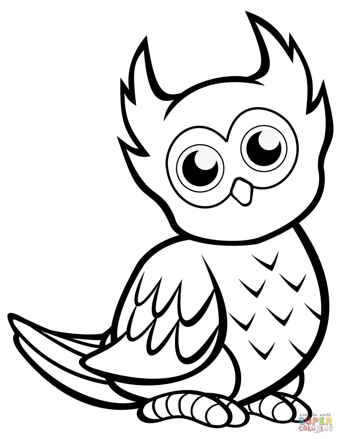 easy cute owl coloring pages easy cute owl drawing at getdrawings free download cute owl easy pages coloring