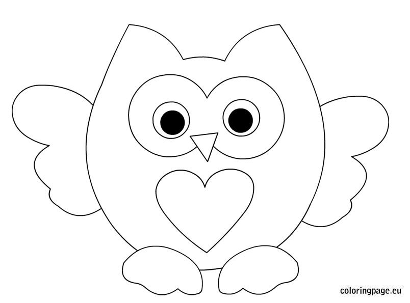 easy cute owl coloring pages owl color drawing at getdrawings free download easy pages coloring cute owl