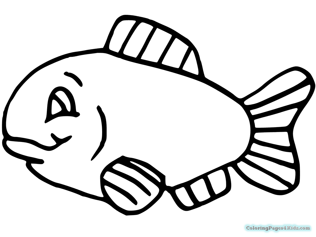 easy fish coloring pages easy coloring pages free printable ocean fish easy easy coloring fish pages