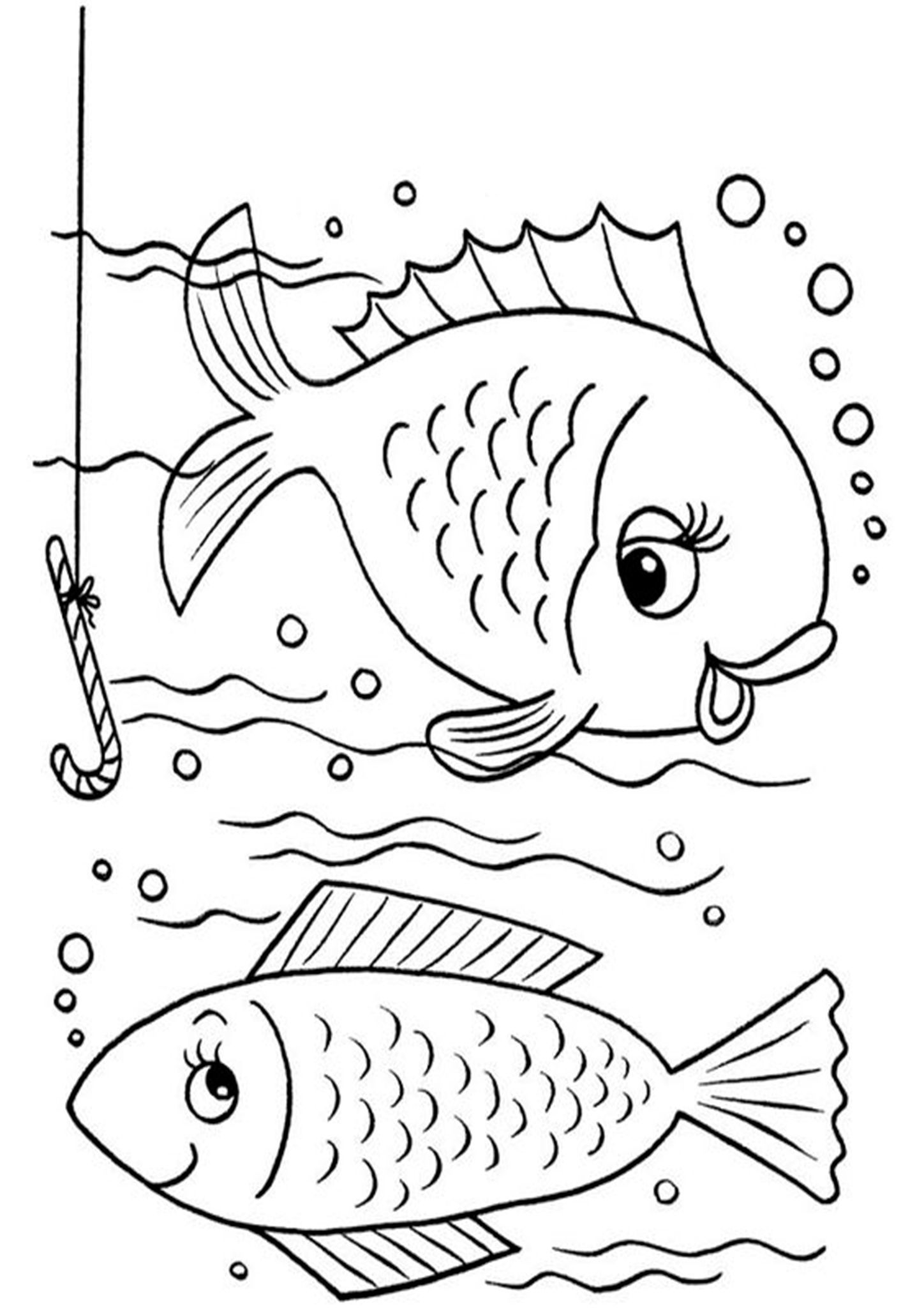 easy fish coloring pages fish drawing for colouring at getdrawings free download fish coloring pages easy