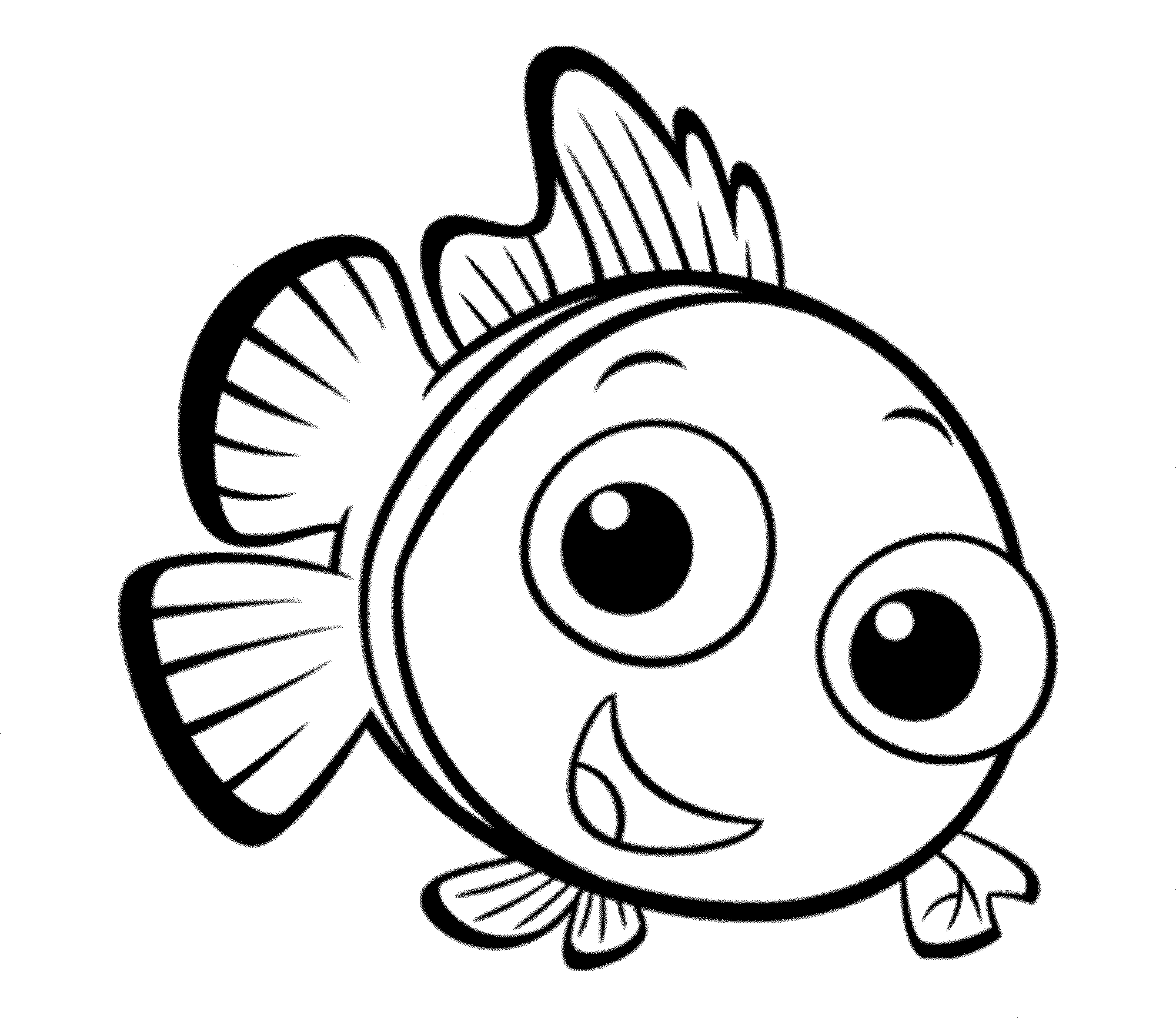 easy fish coloring pages four fish coloring printables to print or download coloring fish easy pages