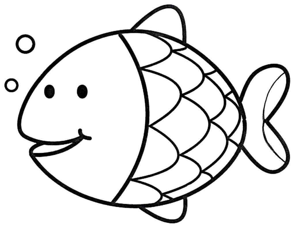 easy fish coloring pages real fish coloring pages at getdrawings free download coloring fish easy pages