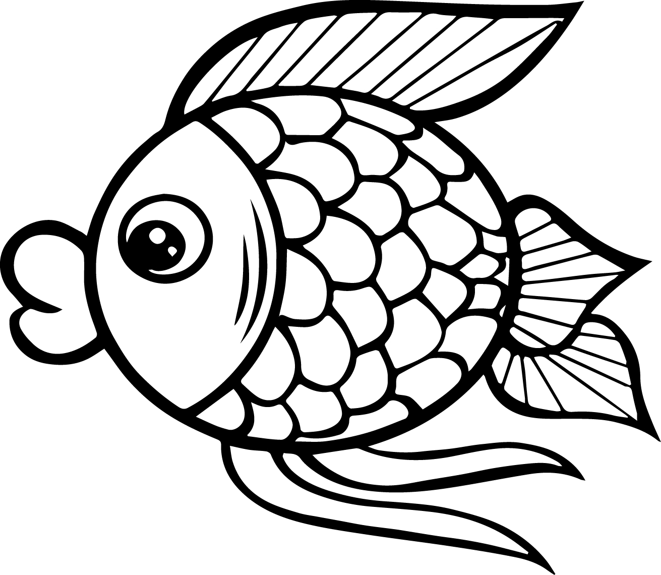easy fish coloring pages simple fish coloring page coloring home pages fish easy coloring