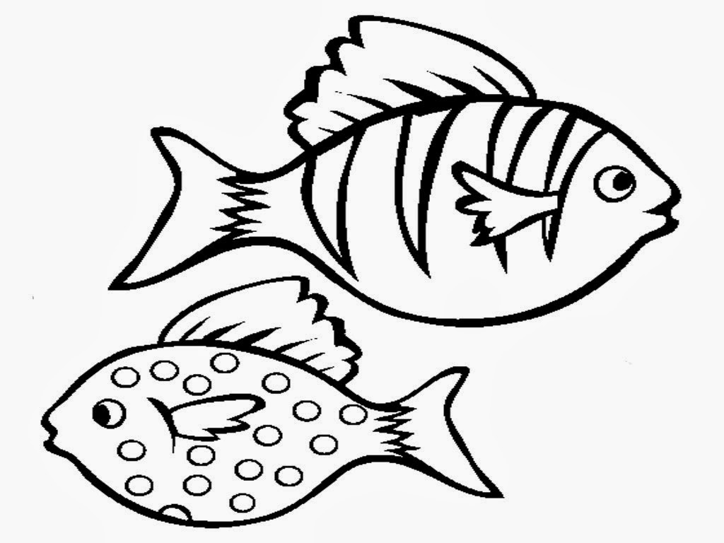 easy fish coloring pages simple fish coloring pages at getdrawings free download pages coloring easy fish