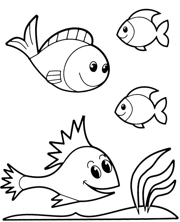 easy fish coloring pages simple fish coloring pages getcoloringpagescom coloring pages easy fish