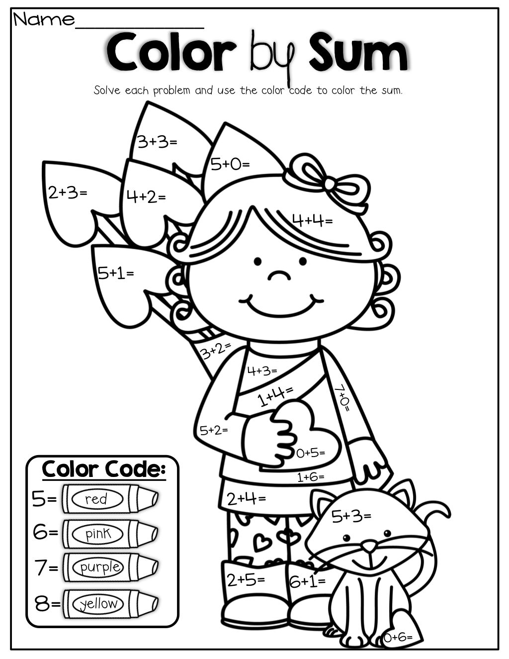 easy math coloring worksheets 15 easy addition coloring worksheets kindergarteen worksheets math coloring easy