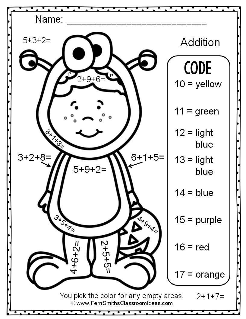 easy math coloring worksheets 16 easy addition color by number worksheet edea smith easy coloring math worksheets