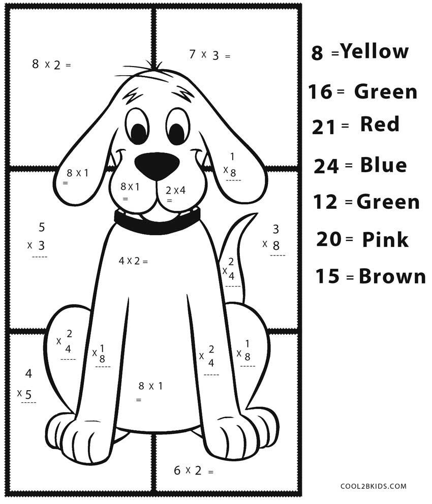 easy math coloring worksheets free printable math coloring pages for kids worksheets easy math coloring