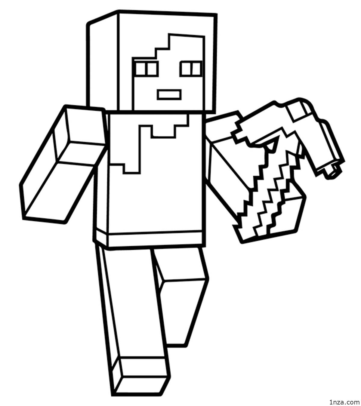 easy minecraft coloring pages free printable minecraft coloring pages easy coloring pages minecraft