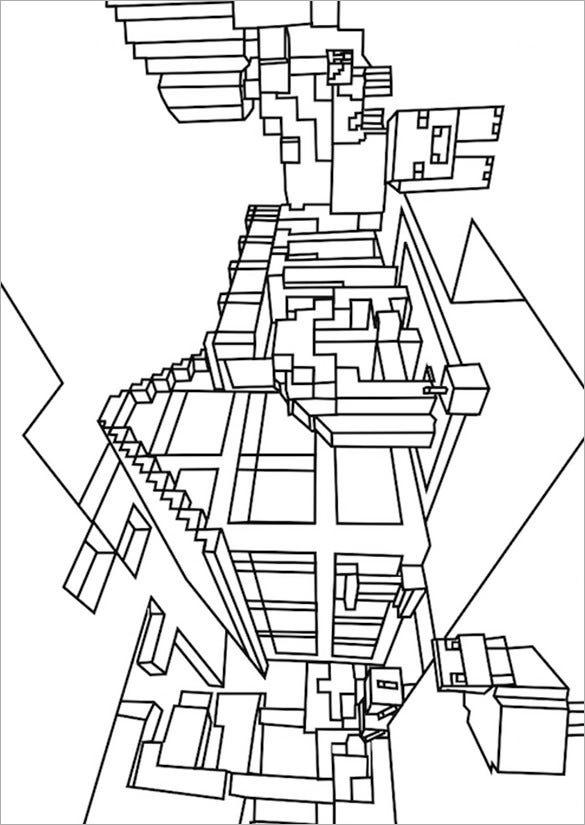 easy minecraft coloring pages gunner in minecraft coloring page free printable pages minecraft coloring easy
