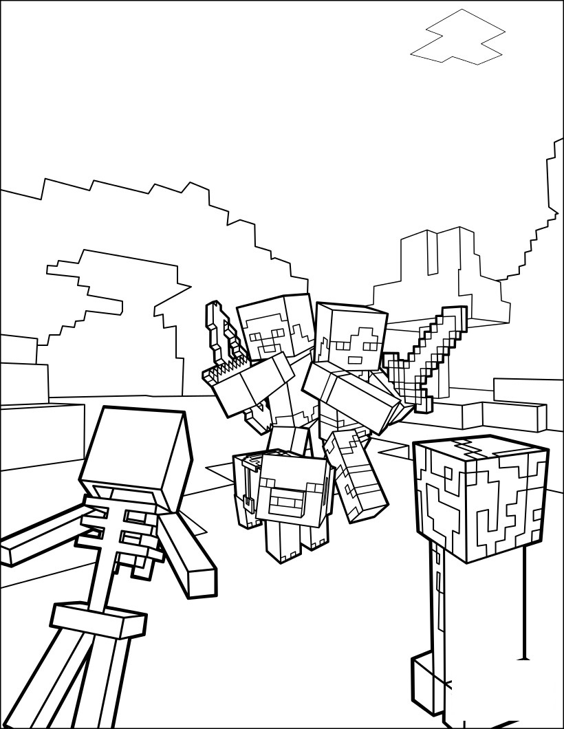 easy minecraft coloring pages minecraft coloring kids easy coloring pages printable pages easy coloring minecraft