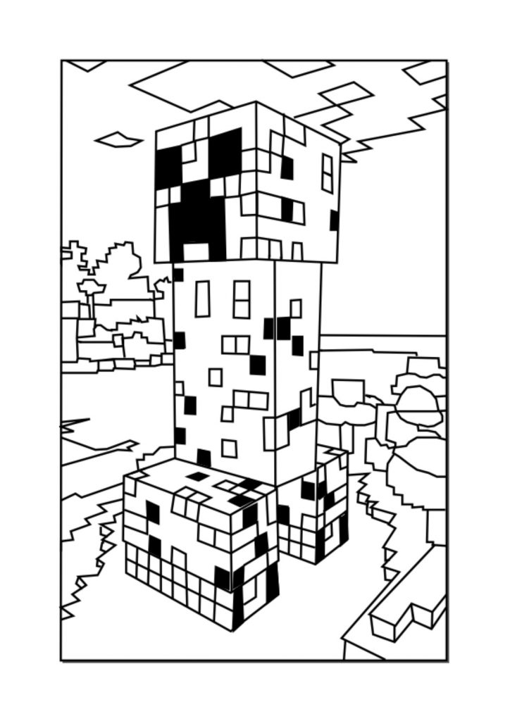 easy minecraft coloring pages minecraft coloring pages print them for free 100 coloring minecraft easy pages