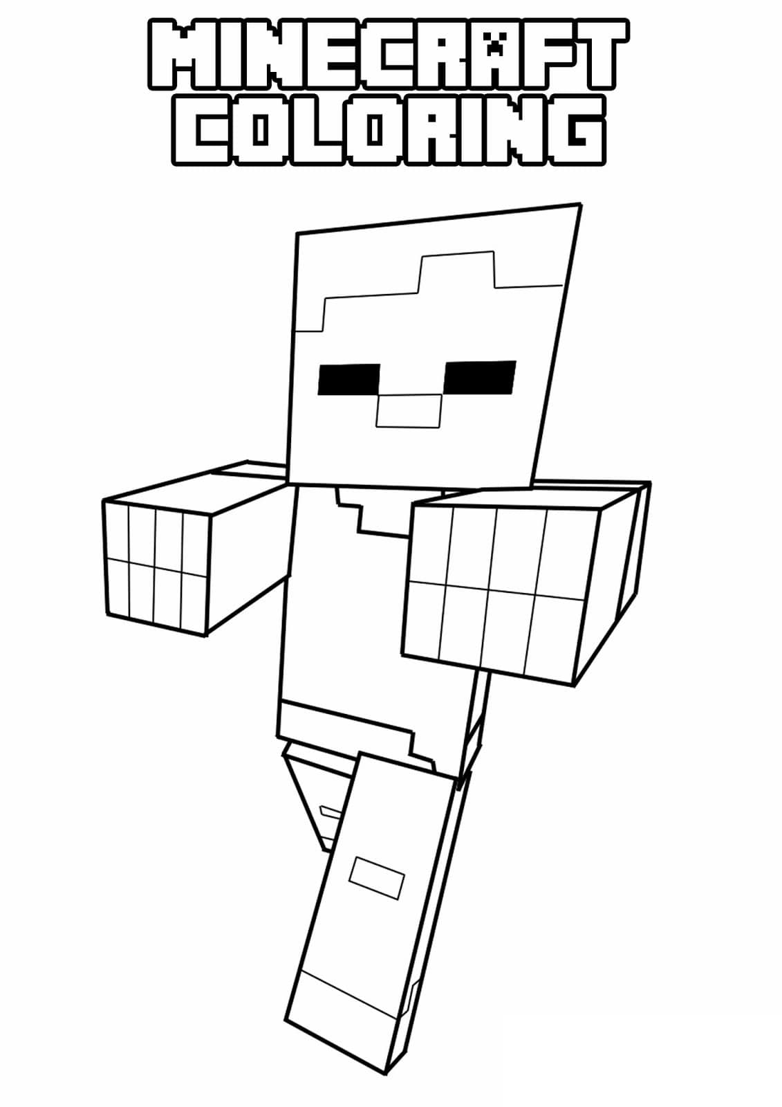 easy minecraft coloring pages minecraft coloring pages print them for free 100 pages minecraft coloring easy