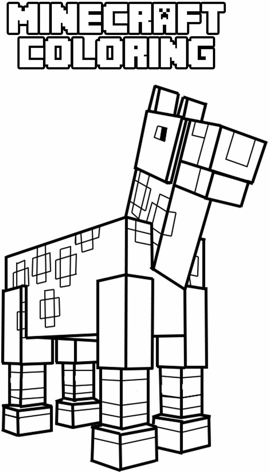 easy minecraft coloring pages minecraft pickaxe drawing at getdrawings free download easy pages minecraft coloring