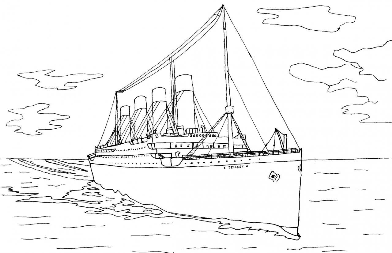 easy titanic coloring pages easy of the titanic coloring pages coloring titanic pages easy