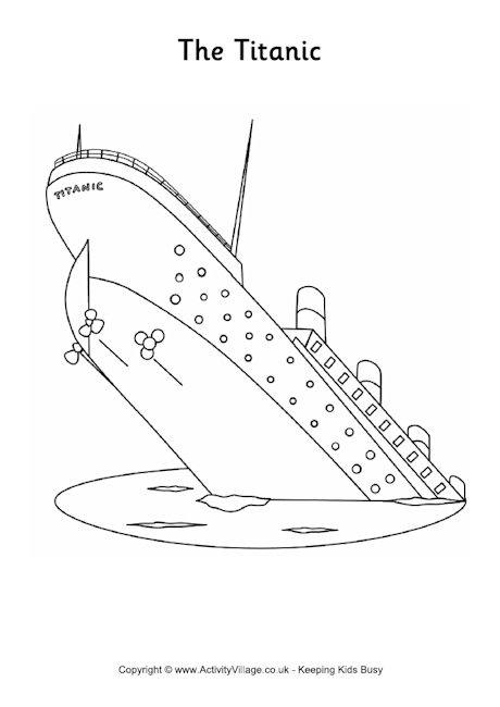 easy titanic coloring pages titanic coloring page halaman mewarnai titanic seni pages easy titanic coloring