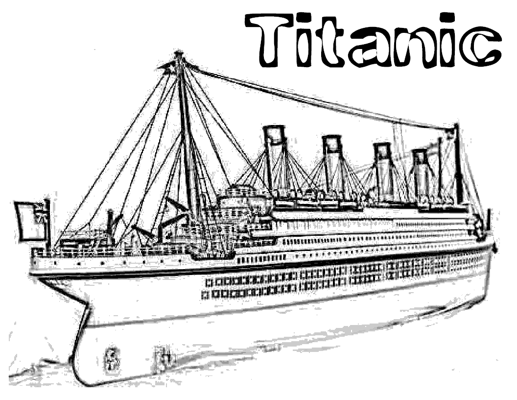 easy titanic coloring pages titanic colouring page easy titanic coloring pages