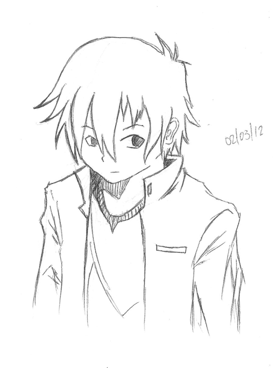 easy to draw anime boy easy anime boy drawing at getdrawings free download draw easy boy anime to