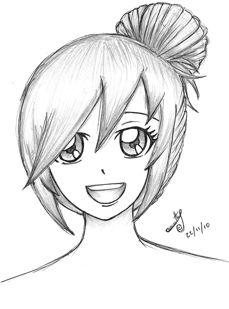 easy to draw anime girl anime drawing easy girl at getdrawings free download anime to easy girl draw