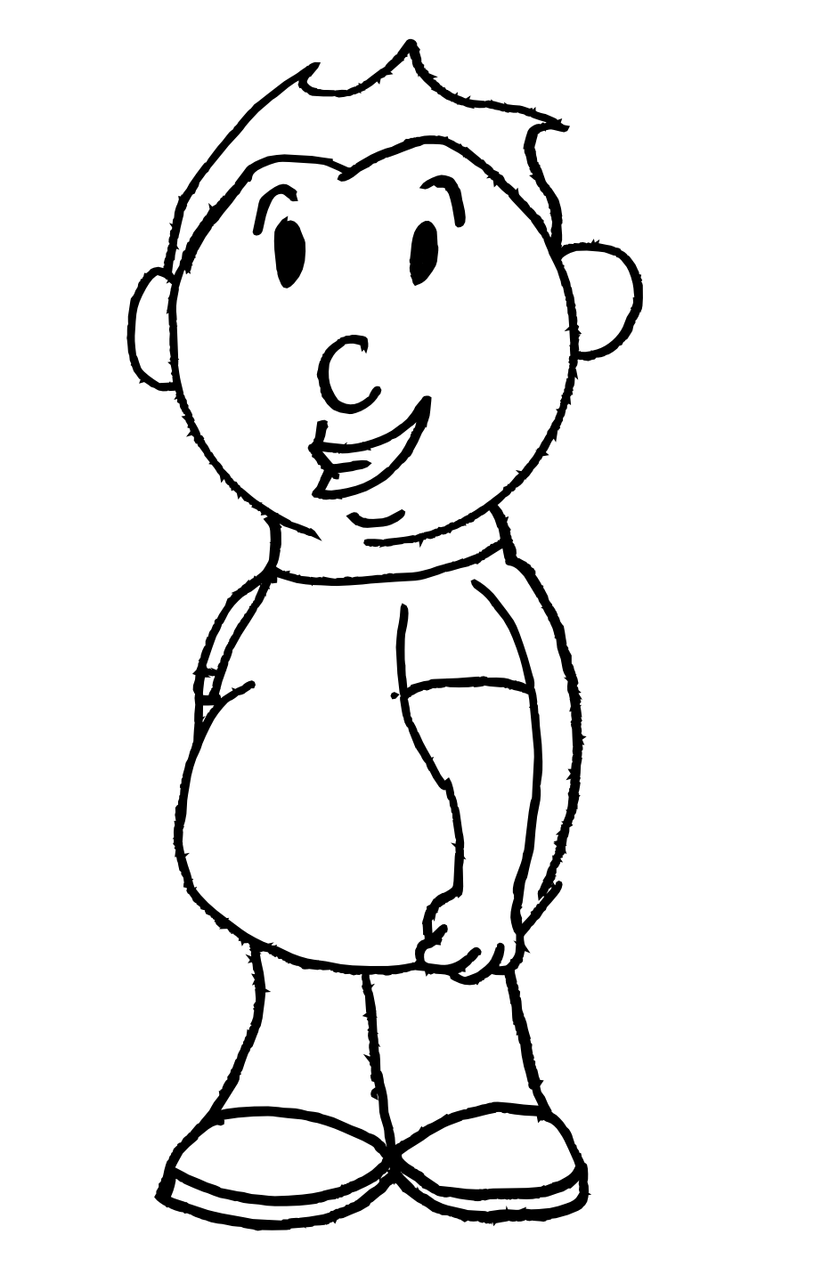 easy to draw characters smelly finger salute drawing a simple cartoon character easy characters to draw