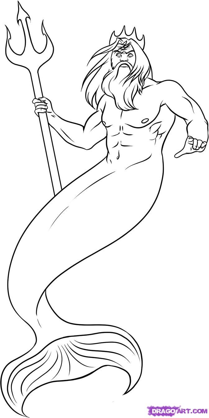 easy to draw god how to draw poseidon step by step greek mythology to draw god easy