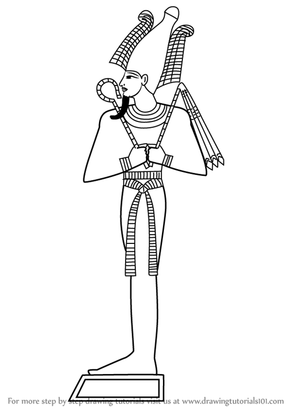 easy to draw god learn how to draw osiris egyptian gods step by step to easy draw god