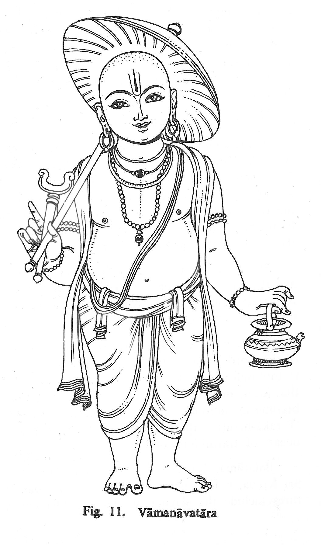 easy to draw god vamanavatara hindu art god art ancient drawings god to draw easy