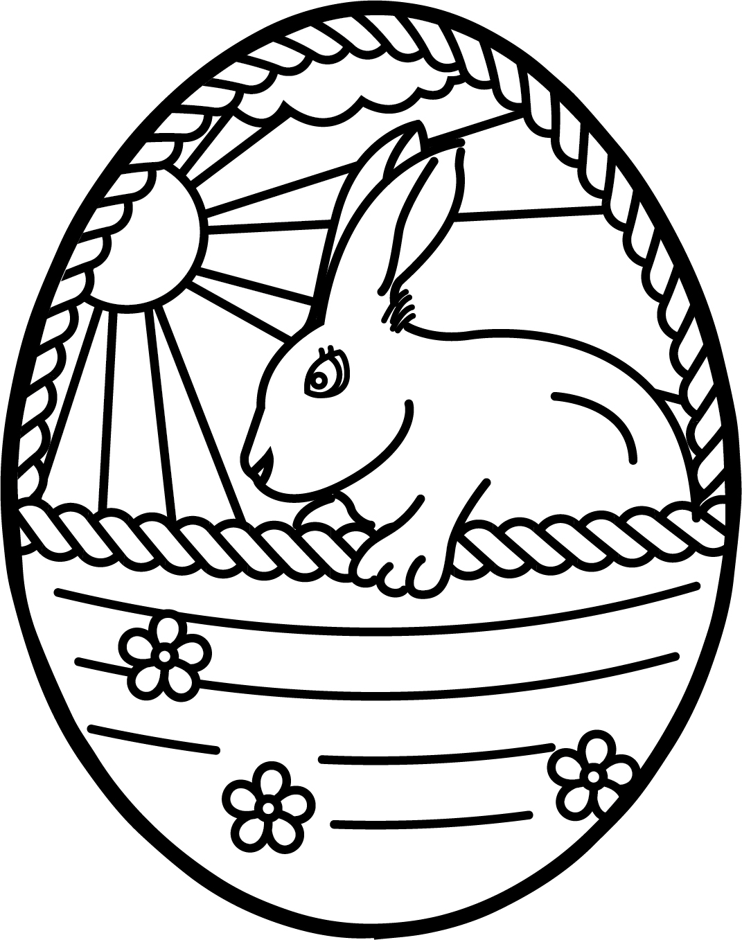 egg coloring page a basket of easter eggs coloring page netart egg page coloring