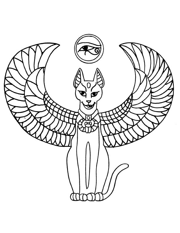 egyptian cat coloring page ancient egypt cat coloring page egypt crafts egypt cat cat page coloring egyptian