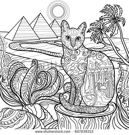 egyptian cat coloring page cat color pages printable tweet coloring pages blog page cat coloring egyptian