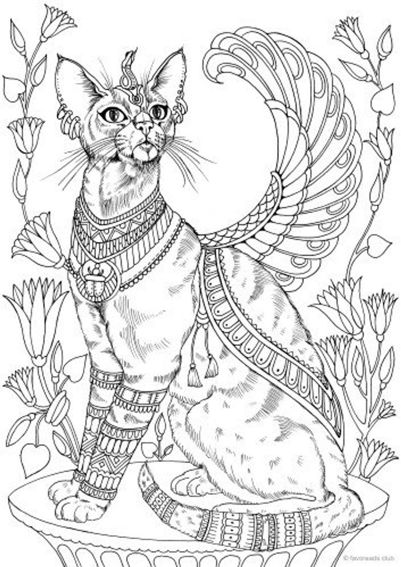 egyptian cat coloring page dltk39s crafts for kids on twitter quotbastet egyptian cat coloring cat egyptian page