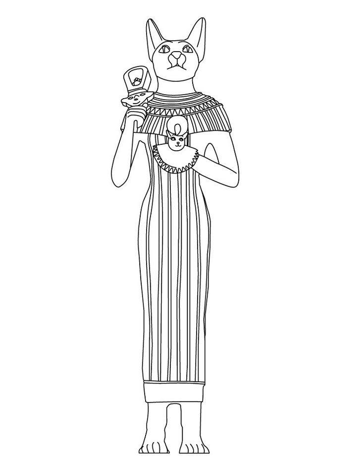 egyptian cat coloring page egyptian cat coloring page cat egyptian page coloring