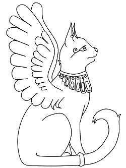 egyptian cat coloring page egyptian cat coloring page coloringcrewcom page egyptian cat coloring
