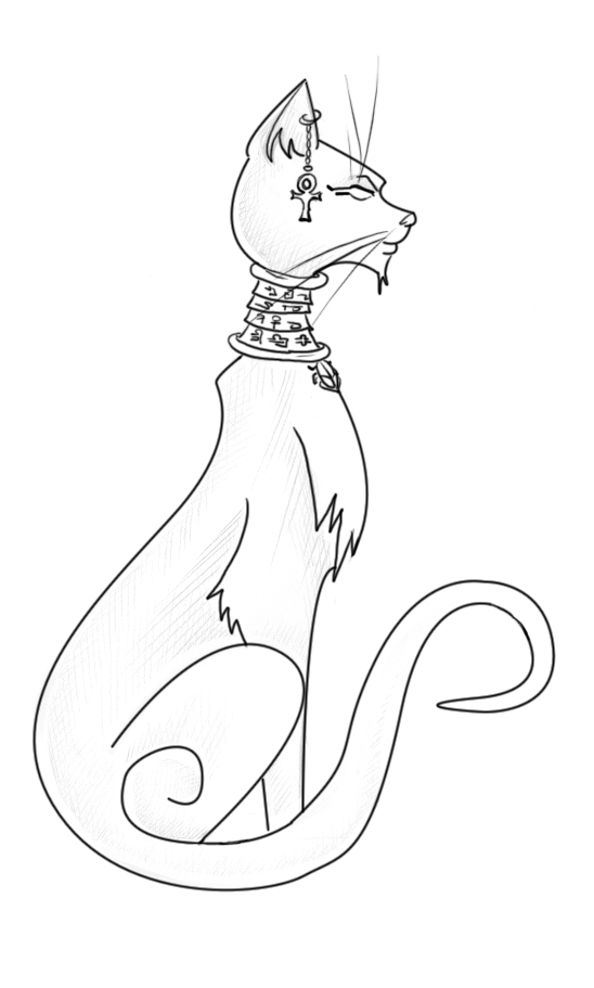 egyptian cat coloring page egyptian cat drawing at getdrawings free download coloring page cat egyptian