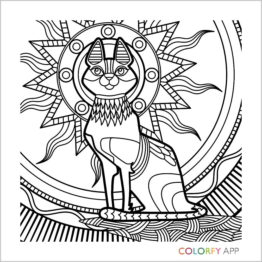 egyptian cat coloring page egyptian cat sketch coloring pages page coloring cat egyptian