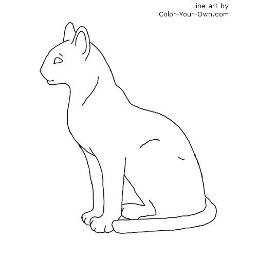 egyptian cat coloring page egyptian cat vector illuatration coloring page stockvector page egyptian cat coloring