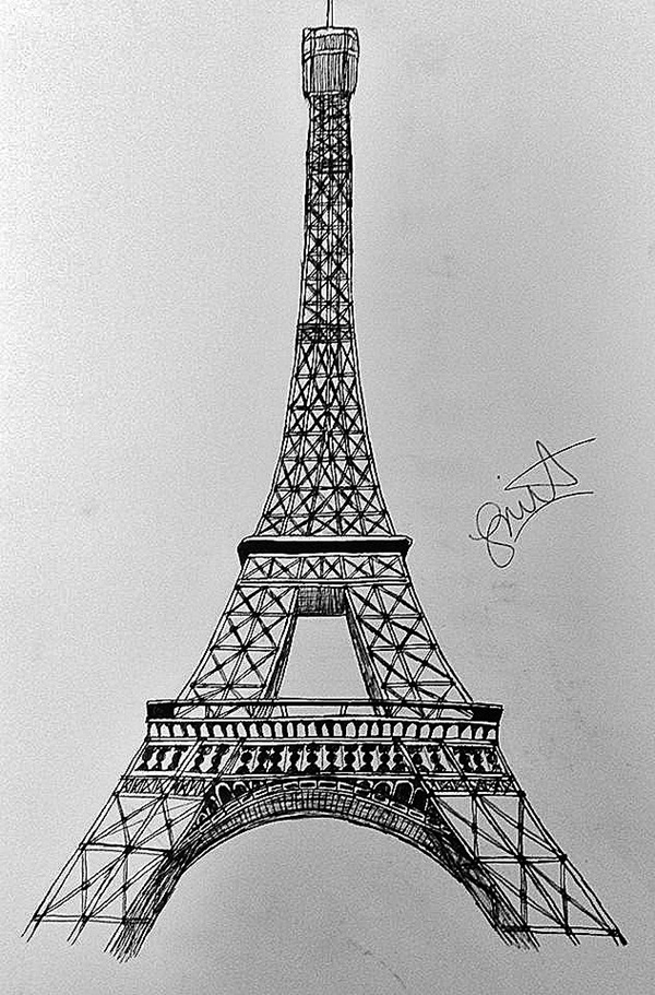 eifell tower drawing eiffel tower drawing for kids free download on clipartmag drawing tower eifell